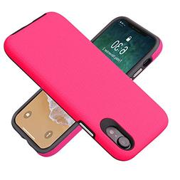 DBCT iPhone XR Case, Shockproof Dual Layer Protection Hybrid