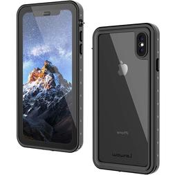 Iphone Xs Max Waterproof Case Lanwow Full Body Protect Case