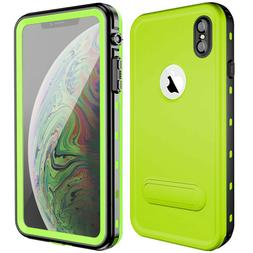 For iPhone XS MAX Waterproof Case XR XS Cover Kickstand Supp