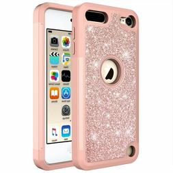 For iPod Touch 5th / 6th / 7th Gen Glitter Bling Hybrid Phon