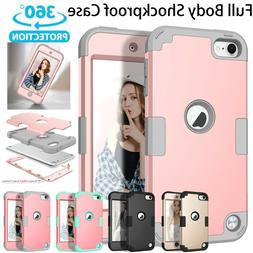 For iPod Touch 5th 6th Gen - Hard & Soft Rubber Hybrid Armor