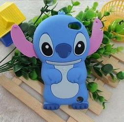 for iPod Touch 5th & 6th & 7th Gen - BLUE STITCH Soft Rubber