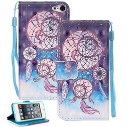 iPod Touch 6 Case, iPod Touch 5 Case, Etubby  PU Leather 3D