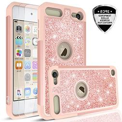 iPod Touch 6 Case,iPod Touch 5 Case with Tempered Glass Scre