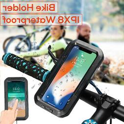 IPX8 Motorcycle Bike Bicycle Waterproof Case MTB Holder Moun