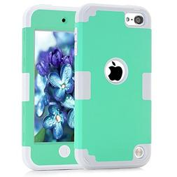 iTouch 5,iPod Touch 6 Case,SAVYOU Colorful Series Heavy Duty