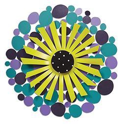 "Studio M Kaleidoscope 18"" Purple Dots with Green Flower Kine"