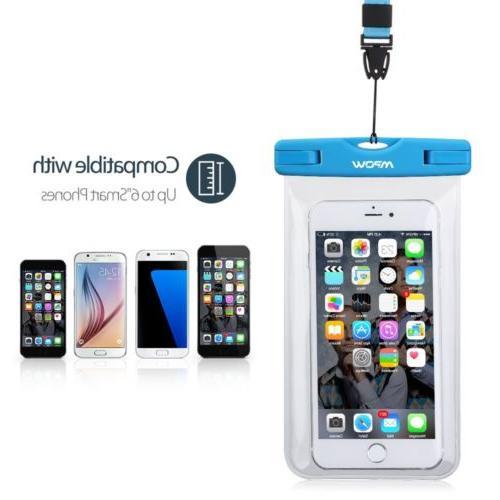 1-3 Pcs Mpow Waterproof Case Phone Dry Bag Punch Lanyard