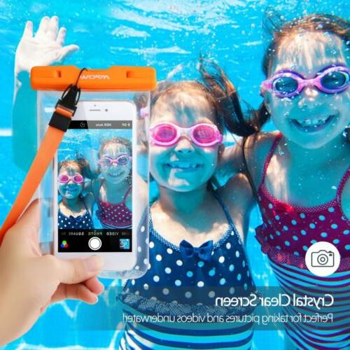 3 Pack Mpow Waterproof Underwater Phone Pack Cover Cell Phone