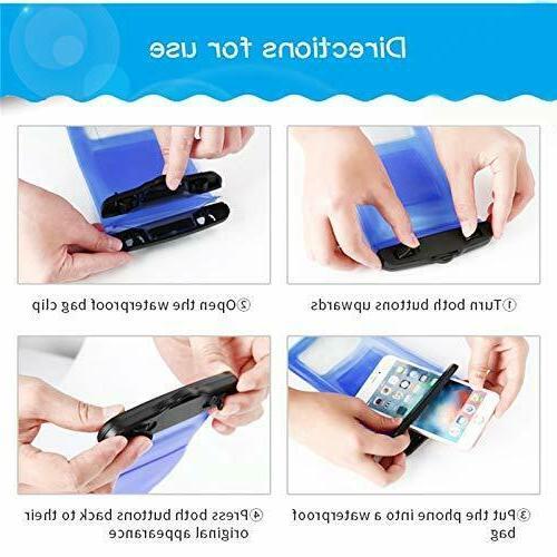 2 Pack Waterproof Underwater Bag Dry Phone