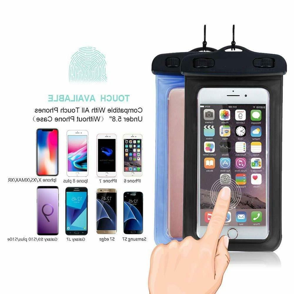 2 Pack Swimming Underwater Dry Case smart Phone