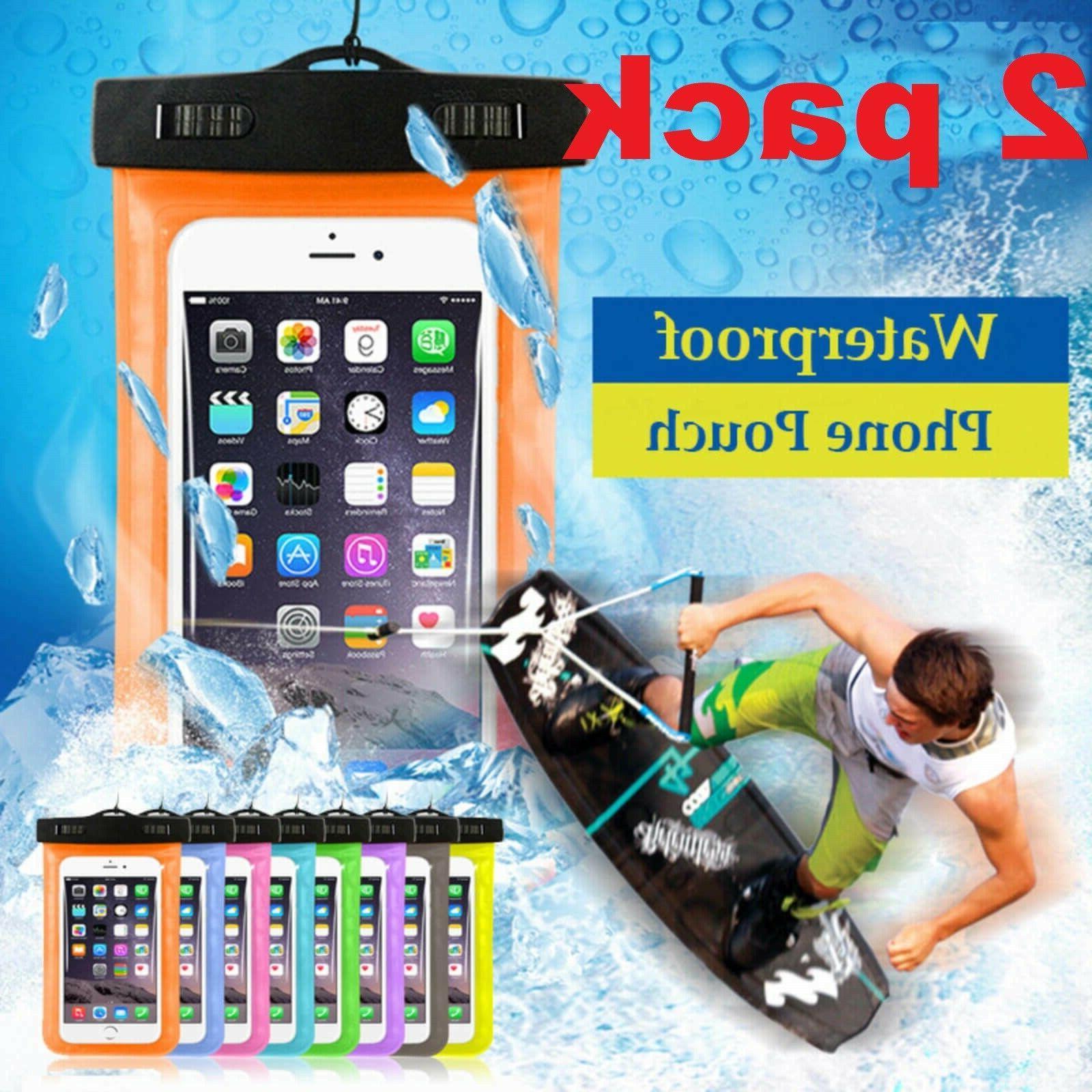 2 pack swimming waterproof underwater pouch bag