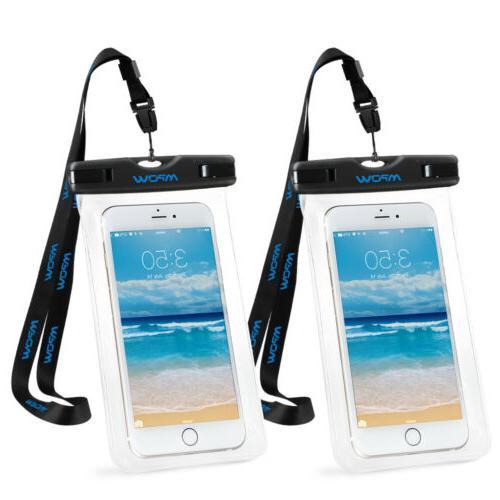 "2 Mpow Universal Waterproof Waterproof 6"" Phone Pouch Bag US"