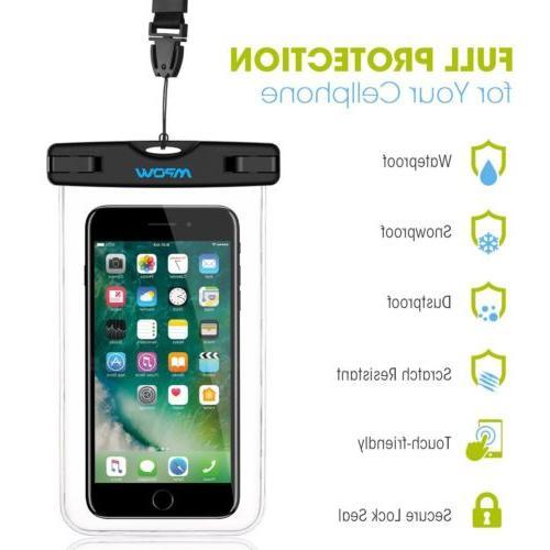"""2 Waterproof IPX8 6"""" Phone Bag US"""