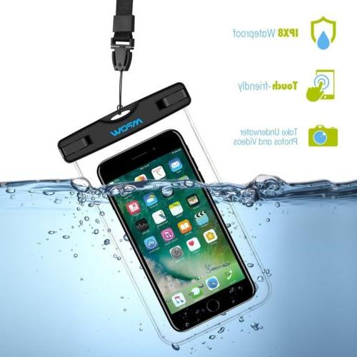 """2 PACK Universal Waterproof Case IPX8 6"""" Pouch Bag"""