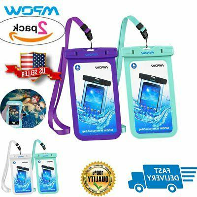 2 pack waterproof bag swimming pouch dry