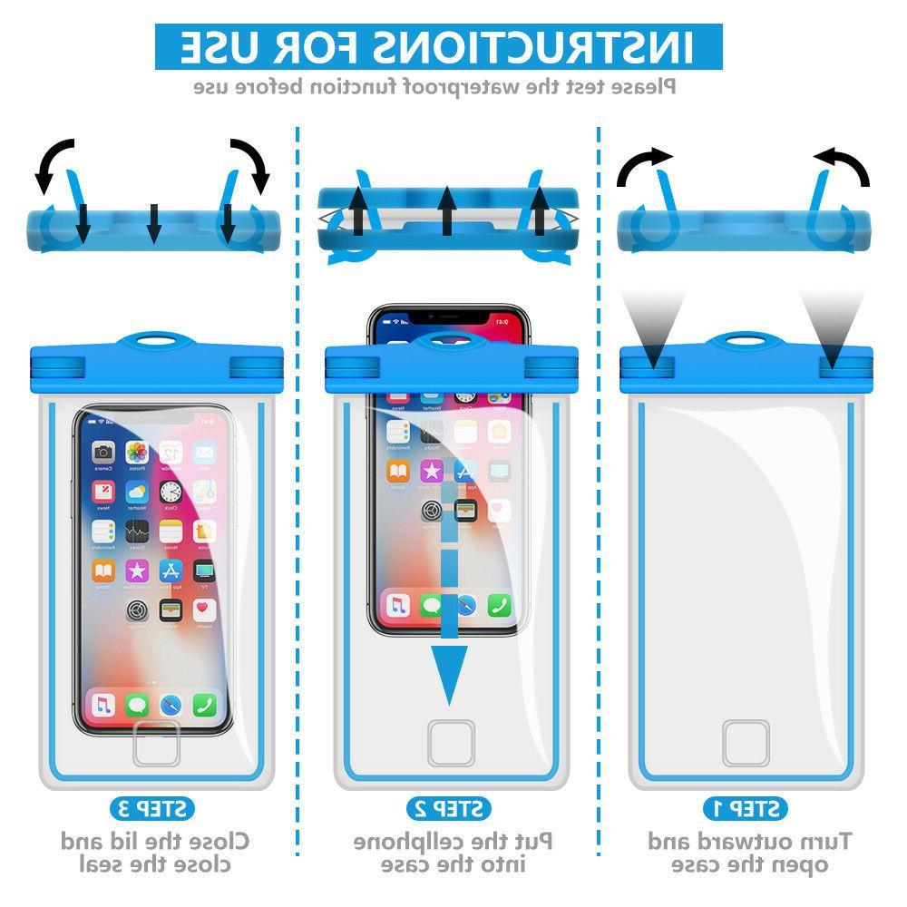2 PCS Universal Waterproof Phone Phone Bag -