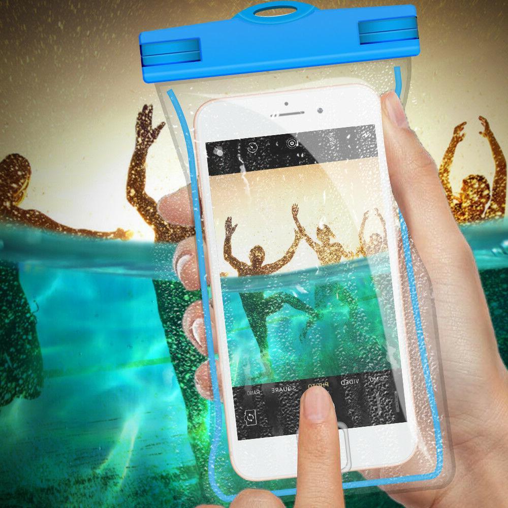 2 PCS Universal Waterproof Phone Bag Pouch Sensitive Touch -