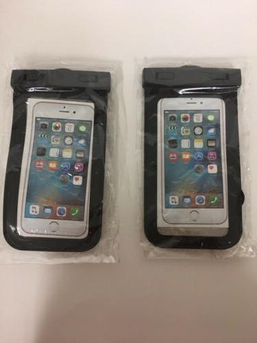 2pack universal waterproof case cellphone dry bag