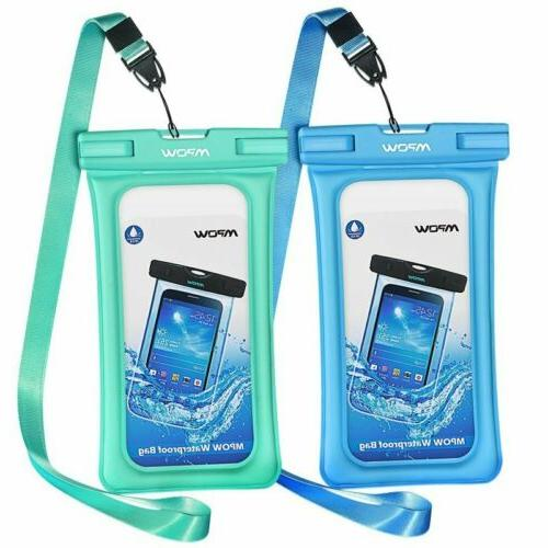 2pcs floating waterproof case ipx8 universal phone
