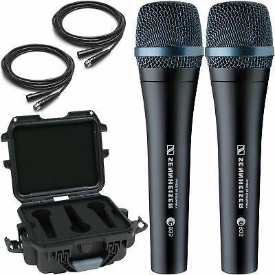 2x e935 vocal microphones with gator waterproof