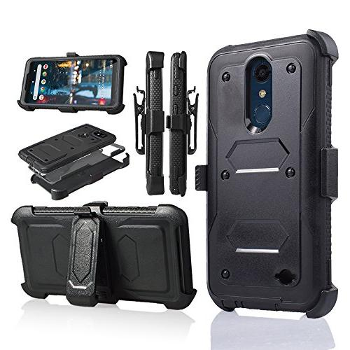 quality design 0cb17 72eed For 5.3 Inch LG K30 Case,LG Premier Pro LTE Case, LG Phoenix Plus Phone  Case Cover with Screen Protector Clip Holster Kickstand Grip Sides Shock ...
