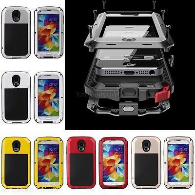 Aluminum Waterproof Shockproof Metal Gorilla Hard Cover For iPhone/Samsung