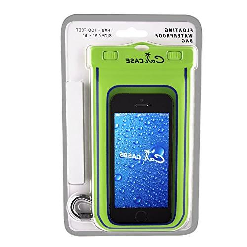 size 40 fe0a9 c1dce CaliCase Universal Waterproof Floating Case - Yellow Glow