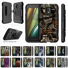 For Motorola Moto E3 / Moto G4 Play Holster Belt Clip Case R