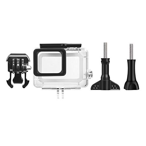 Kupton Accessories GoPro Hero 7/6/ 5/ Hero Starter Kit Travel + Housing Case + Screen Protector + Cover Silicone Cover for Hero6 Outdoor Sport Kit