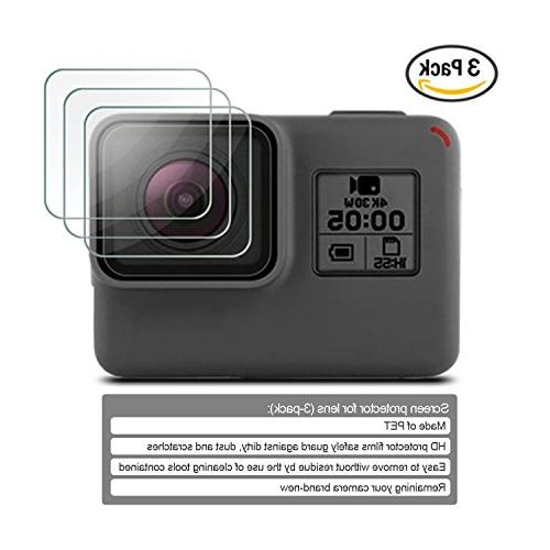 Kupton Accessories GoPro Hero 7/6/ Starter Case + Screen + Lens Cover + for Pro Hero6 Outdoor Kit