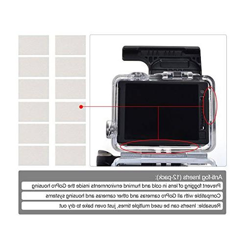 Kupton Accessories GoPro Hero 5/ Starter Travel + Housing + Screen Lens Cover for Hero6 Hero5 Kit
