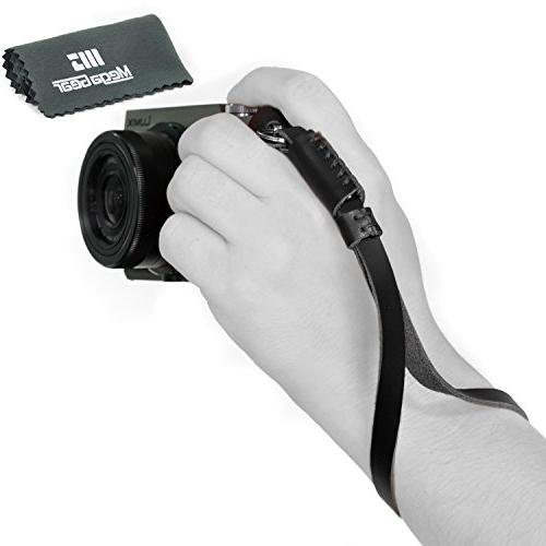 MegaGear Leather Digital SLR Camera, Camcorder Hand Strap fo