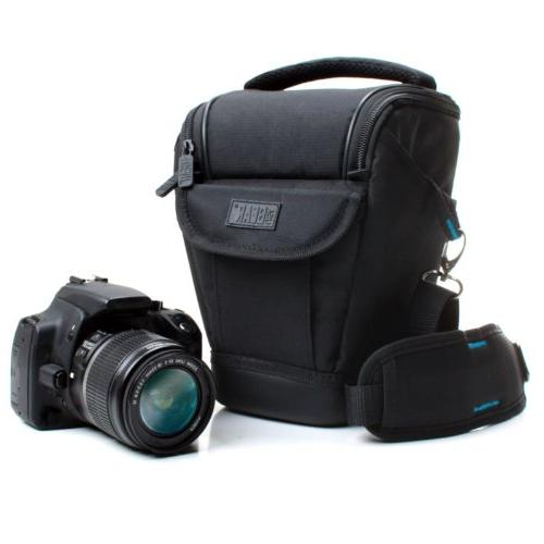USA Gear DSLR Camera and Lens Pouch Bag Case Bag with Adjust