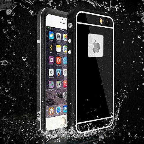 Aluminum iPhone Waterproof Waterproof Full iPhone 6S -Black