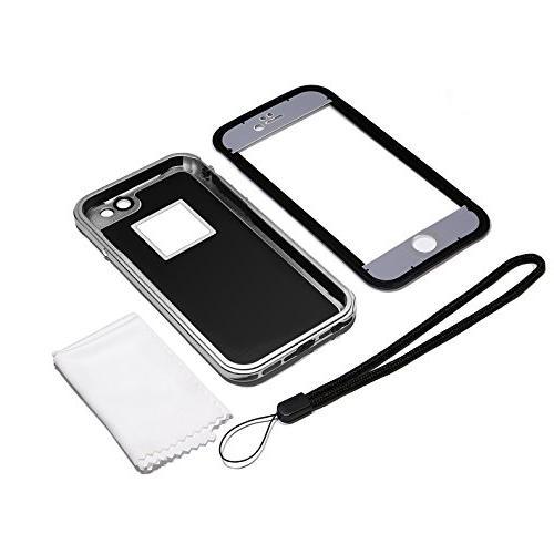 Aluminum iPhone 6s Waterproof Waterproof Full Function Cover iPhone -Black