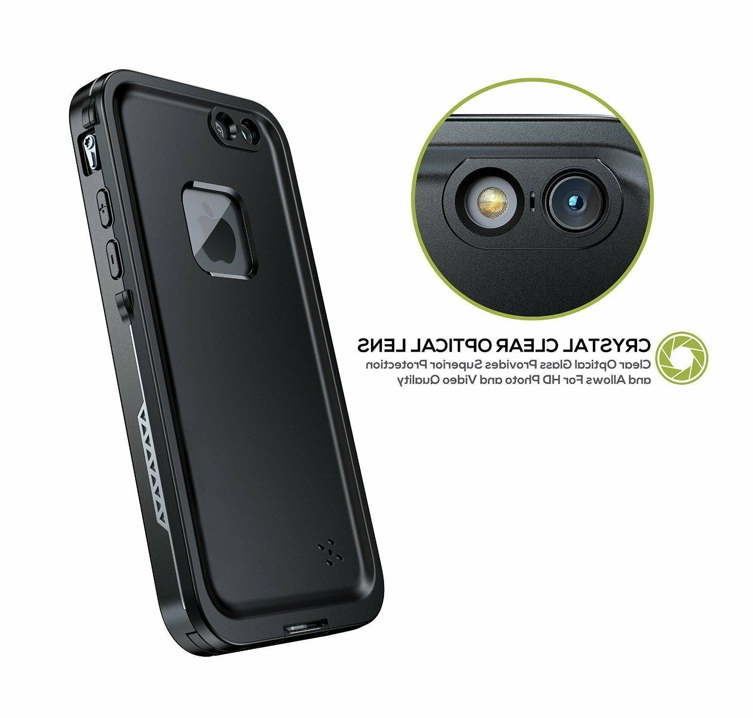 For iPhone 7 8 Waterproof Case FRE with Screen Protector