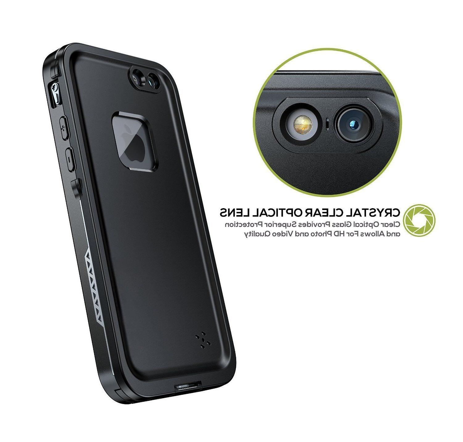 For iPhone 7 8 Waterproof Cover with Built-in Screen Protector