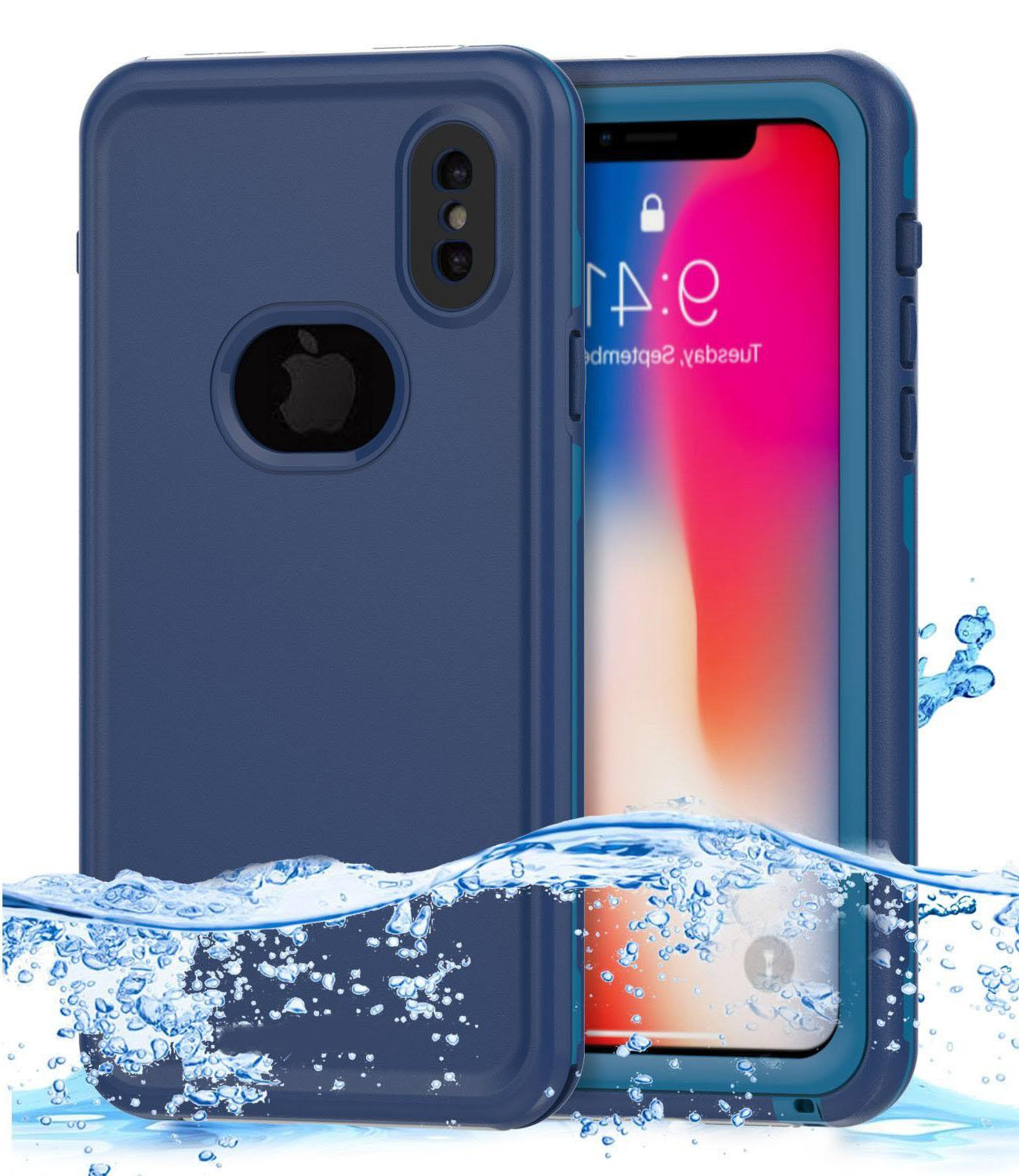 Apple iPhone X 10 Swimming Waterproof Case Cover with Screen