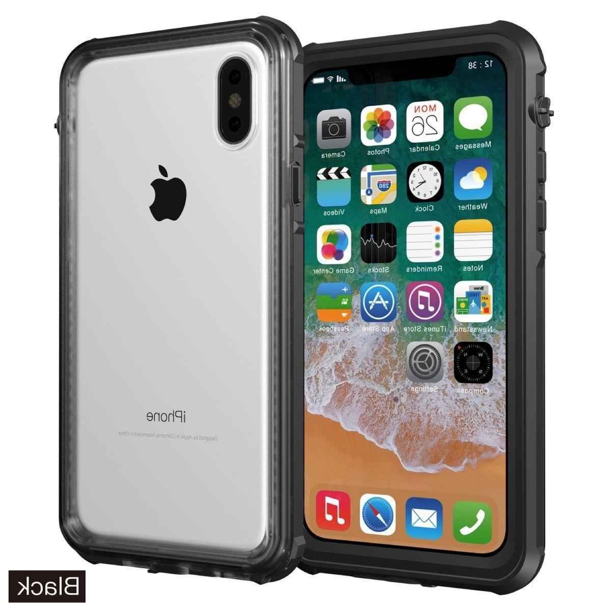 For Apple iPhone Xs X Clear Back Waterproof Case Shockproof