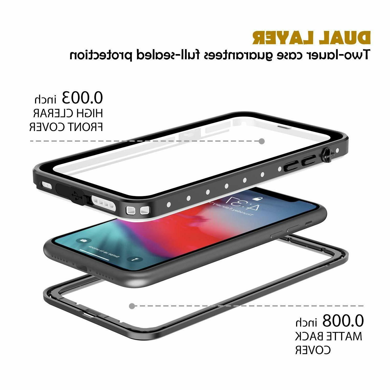 For Apple iPhone XR Life Waterproof Case Dirtproof Hybrid Max