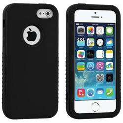 Black Rubberized Shell + Silicone Cover VERGE Hybrid Case fo
