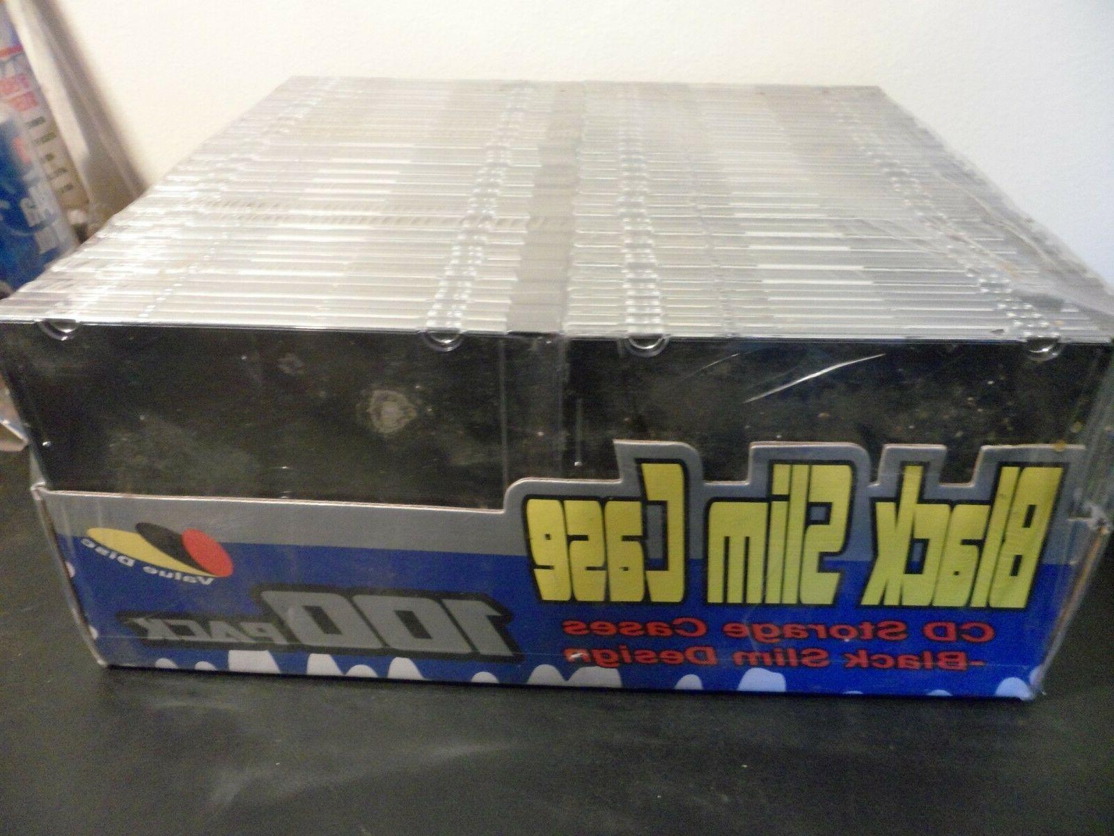 black slim case dvd cd storage cases