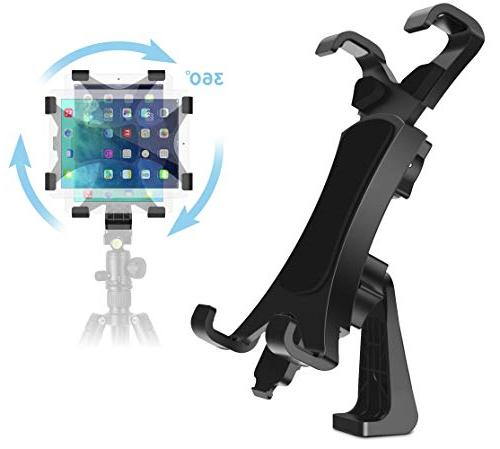 Mini Nexus Pro Universal Tablet Clamp Holder Fits Ipad Air Microsoft Surface 360 Degree Rotatable Break-Resistant iPad Tripod Mount Adapter