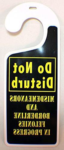 Do Not Disturb Misdemeanors & Felonies Teen Tin Door Knob No