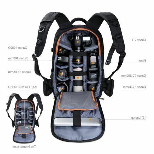 dslr backpack bag insert case