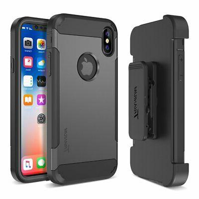 Trianium Holster Case Compatible with & iPhone X (5.8""