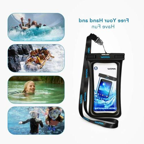 Mpow Floating Waterproof Case IPX8 Waterproof Pouch Underwater Dry USA