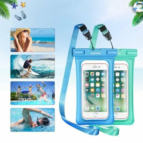 2PC Mpow Floating Waterproof Case IPX8 Universal Phone Pouch