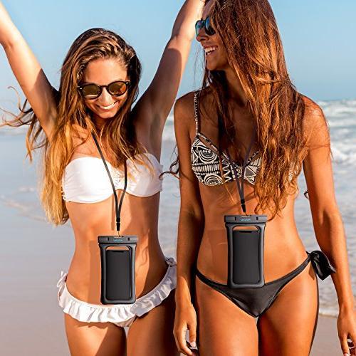 "Mpow Floating, Waterproof Case Underwater Compatible iPhone Galaxy Google Pixel 6.5"""